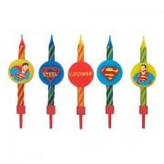 Lumanari aniversare pentru tort Superman Set 10 Buc