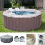 Whirlpool MSpa HWC-A62, 4 Personen In-/Outdoor Massage heizbar Ø 180cm FI-Schalter + Zubehör ~ Variantenangebot