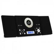 Auna MC-120 Microanlage Vertikalanlage MP3-CD-Player USB AUX Wandmontage schwarz