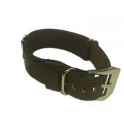 Cinturino in pelle tipo Nato Nero 20 mm