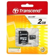 Difox Transcend MicroSD Kort 2GB + Adapter