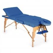 Klarfit MT 500 Lettino Da Massaggio 210 cm 200 Kg Pieghevole Schiuma A Celle Chiuse Borsone Blu