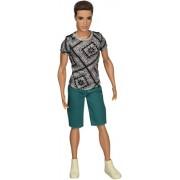 Mattel Year 2014 Barbie Ken Fashionistas Series 12 Inch Doll - RYAN (BFCN42) with Grey T-Shirt, Gree