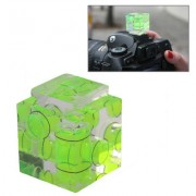 Triple Axis Bubble Spirit Level on Camera Hot Shoe 3D(Green)