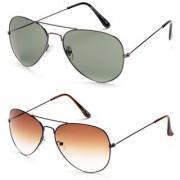 Magjons Aviator Sunglasses Combo Set of 2 With box MJ7777