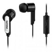 "Слушалки Philips SHE1405BK, микрофон, тип ""тапи"", динамичен бас, черни"