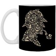 Sherlock Holmes - Doodle Art - 11 oz. White Mug - 77