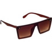 Zyaden Retro Square Sunglasses(Brown)