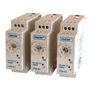 Releu de timp cu temporizare la actionare TIR-03 230V AC/24V AC/DC, 1-30min, 5A/250V AC