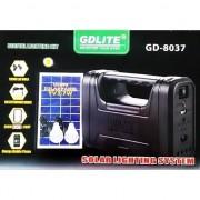 Sistem de iluminat digital cu panou solar GDLite GD-8037