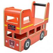 Kiddimoto London Bus Ride On Walker by Kiddimoto