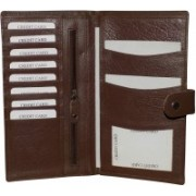 Kan Brown Premium Quality Leather Travel Organizer/Passport Holder For Men and Women(Brown)