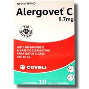 ALERGOVET C 0,7 MG - 10 comprimidos