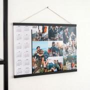 smartphoto Jahresplaner mit magnetischer Posterleiste 60 x 40 cm Holz