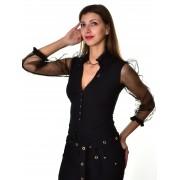 Mayo Chix női hosszú ujjú alkalmi body SELMA m2018-2Selma1213/fekete