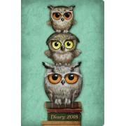 Zsebnaptár 2018- Santoro- Book Owls