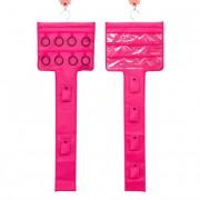V&V Závěsný organizér na šperky, šátky a kabelky (růžová barva) - V&V