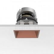 Flos Architectural Easy Kap 80 Plafonnier encastré carré ajustable LED, cuivre, 19°