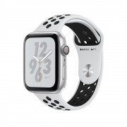 Apple Watch Nike+ Series 4, 44mm Silver Aluminum Case with Pure Platinum/Black Nike Sport Band, GPS + Cellular - умен часовник от Apple