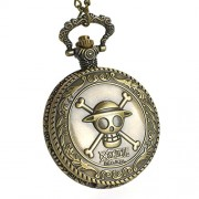 CoolChange One Piece Pocket Watch with the Jolly Rogers of Straw Hat Crew