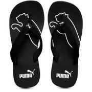 Puma Colaba Unisex Black White Flip Flops