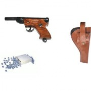 Prijam Air Gun Pdw-007 Model With Metal Body For Target Practice Combo Offer 300 Pellets With Cover Air Gun
