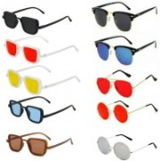 SO SHADES OF STYLE Wayfarer, Round, Aviator, Clubmaster, Rectangular Sunglasses(Red, Black, Yellow, Brown, Blue)