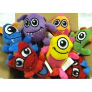 12 Plush Monsters - Great Monster Theme Party Favors!