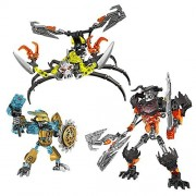 Brickbuddies Generic Building Block Bionicle Mask Maker Vs. Skull Grinder And Scorpio Combiner Bundle