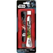 Star Wars elemlámpa + toll szett