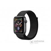 Apple Watch Series 4 GPS, 44mm, astrosivi sa crnim sportskim remenom