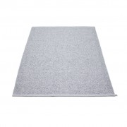 pappelina Svea Outdoor-Teppich - grau metallic / hellgrau 140 x 220cm