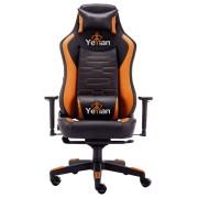 Silla Gaming Yeyian negro/naranja YAR-950O descansabrazo armazón metálico