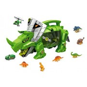 powertrc Dinosaur Storage Carrier for Your Dinosaurs and Cars with Small Dinosaur Figures and car Vehicles