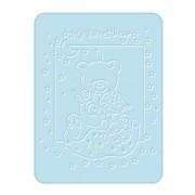Paturica Plusata 3D 80x110 cm Ursulet albastru BoboBaby