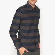 La Redoute Collections Gestreiftes Hemd aus reiner Baumwolle, Regular-Fit