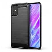 Capa Carbon Lux preta para Samsung Galaxy S20 Ultra / S11 Plus