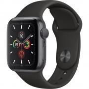 Watch 5 GPS Aluminiu Negru 40MM Si Curea Sport Silicon Negru APPLE