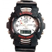 Trendy small S Shock Sports Dual Time Analog And Digital Watch For Boys