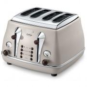 DeLonghi Icona Vintage 4 Slice Toaster - Icona Vintage Dolcevita Beige