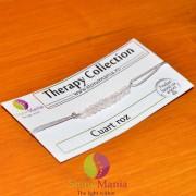 Bratara Therapy cuart roz discuri mici si argint 925