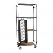 Xenos Wijnrek trolley - 60x33x141 cm