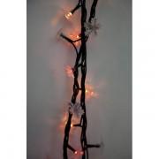 """Гирлянда Снежинки, 100 мини-ламп """"рис"""", цветное свечение, 8 режимов, зеленый провод 971239"""