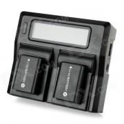 """3 """"NP-FW50 cargador LCD? FW50 1500mAh Bateria para Sony NEX5C NEX5N (UE)"""