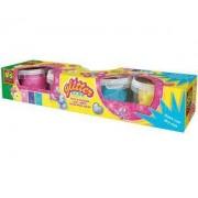 Детски комплект с пластелин блестящ, SES, 080862