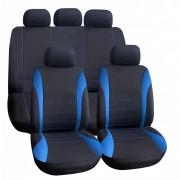 Üléshuzat univerzális 9db-os fekete-kék Solid 1842BKB