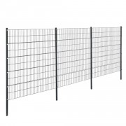 Телена оградна система, две димензии, Сива, 6 x 2 m