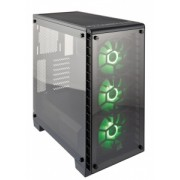Corsair case Crystal Series 460X RGBTempered Glass, Compact ATX Mid-Tower