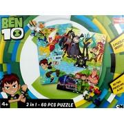 Funskool Puzzles Ben 10 2 in 1 - 60 PCS Puzzle