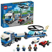 Lego City 60244 Policía: Camión de Transporte del Helicóptero (317 piezas)